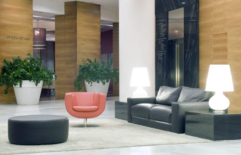 Interiorismo hall hotel