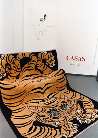 1990. Exposición tapicería Ali-Baba. Oscar Tusquets Blanca. Casas.